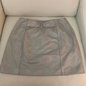 Wilsons Maxima Silver Leather Mini-Skirt